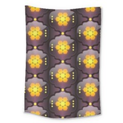 Pattern Background Yellow Bright Large Tapestry