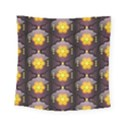 Pattern Background Yellow Bright Square Tapestry (Small) View1