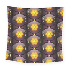 Pattern Background Yellow Bright Square Tapestry (Large)