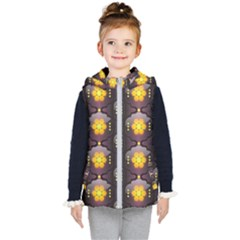 Pattern Background Yellow Bright Kid s Hooded Puffer Vest