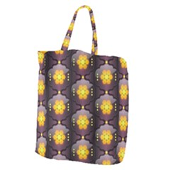 Pattern Background Yellow Bright Giant Grocery Zipper Tote