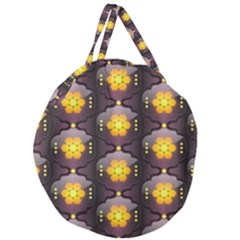 Pattern Background Yellow Bright Giant Round Zipper Tote