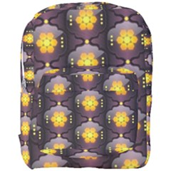 Pattern Background Yellow Bright Full Print Backpack