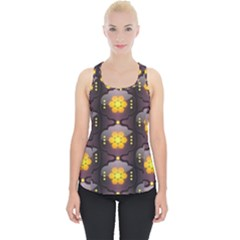 Pattern Background Yellow Bright Piece Up Tank Top
