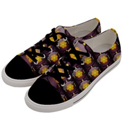 Pattern Background Yellow Bright Men s Low Top Canvas Sneakers