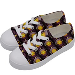 Pattern Background Yellow Bright Kids  Low Top Canvas Sneakers