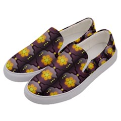 Pattern Background Yellow Bright Men s Canvas Slip Ons