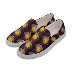Pattern Background Yellow Bright Women s Canvas Slip Ons