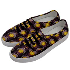 Pattern Background Yellow Bright Men s Classic Low Top Sneakers