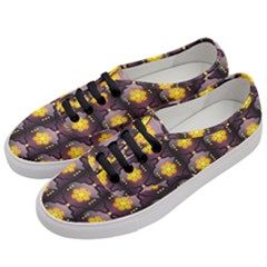 Pattern Background Yellow Bright Women s Classic Low Top Sneakers