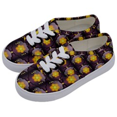Pattern Background Yellow Bright Kids  Classic Low Top Sneakers