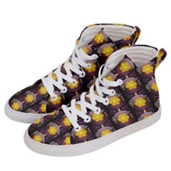 Pattern Background Yellow Bright Men s Hi-Top Skate Sneakers
