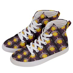 Pattern Background Yellow Bright Women s Hi-Top Skate Sneakers