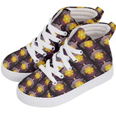 Pattern Background Yellow Bright Kid s Hi-Top Skate Sneakers