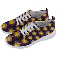 Pattern Background Yellow Bright Men s Lightweight Sports Shoes