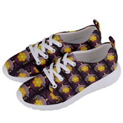 Pattern Background Yellow Bright Women s Lightweight Sports Shoes