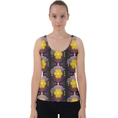 Pattern Background Yellow Bright Velvet Tank Top