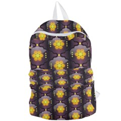 Pattern Background Yellow Bright Foldable Lightweight Backpack