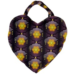 Pattern Background Yellow Bright Giant Heart Shaped Tote