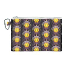 Pattern Background Yellow Bright Canvas Cosmetic Bag (Large)