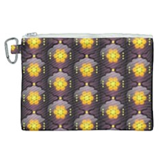 Pattern Background Yellow Bright Canvas Cosmetic Bag (XL)