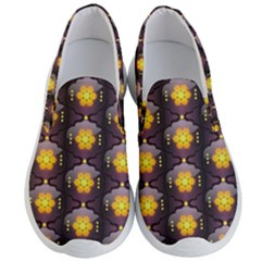 Pattern Background Yellow Bright Men s Lightweight Slip Ons