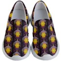 Pattern Background Yellow Bright Kid s Lightweight Slip Ons View1