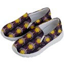 Pattern Background Yellow Bright Kid s Lightweight Slip Ons View2