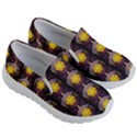 Pattern Background Yellow Bright Kid s Lightweight Slip Ons View3