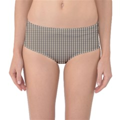 Pattern Background Stripes Karos Mid Waist Bikini Bottoms by Sapixe