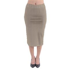 Pattern Background Stripes Karos Midi Pencil Skirt by Sapixe