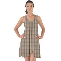 Pattern Background Stripes Karos Show Some Back Chiffon Dress by Sapixe