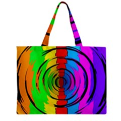 Pattern Colorful Glass Distortion Zipper Mini Tote Bag by Sapixe