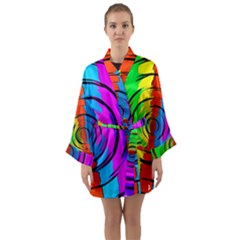 Pattern Colorful Glass Distortion Long Sleeve Kimono Robe by Sapixe