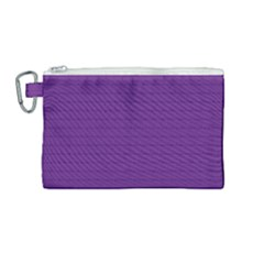 Pattern Violet Purple Background Canvas Cosmetic Bag (medium) by Sapixe