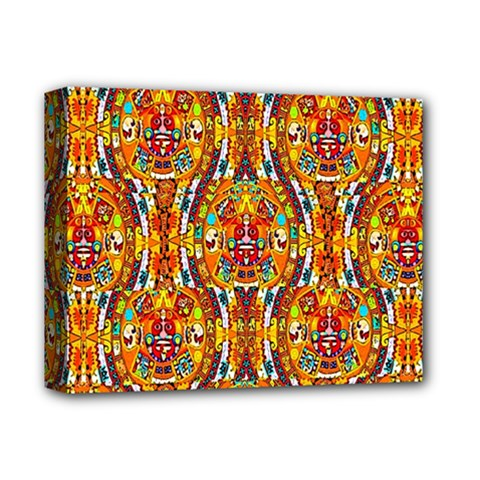 Artwork By Patrick Aztec 1 Deluxe Canvas 14  X 11  by ArtworkByPatrick