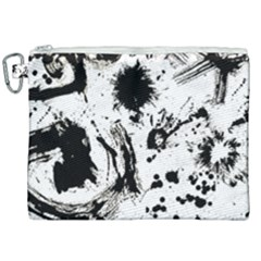 Pattern Color Painting Dab Black Canvas Cosmetic Bag (xxl) by Sapixe