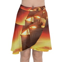 Pirate Ship Caribbean Chiffon Wrap