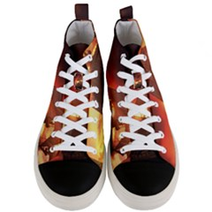Pirate Ship Caribbean Men s Mid Top Canvas Sneakers