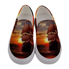 Pirate Ship Women s Canvas Slip Ons