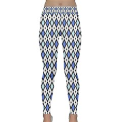 Blue Jess Classic Yoga Leggings by jumpercat