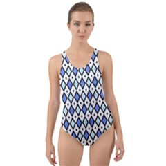 Blue Jess Cut-out Back One Piece Swimsuit by jumpercat