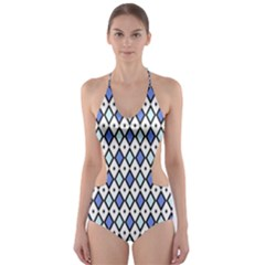 Blue Jess Cut-out One Piece Swimsuit by jumpercat