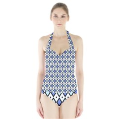 Blue Jess Halter Swimsuit by jumpercat