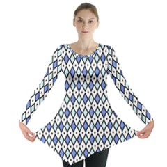 Blue Jess Long Sleeve Tunic  by jumpercat