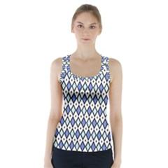 Blue Jess Racer Back Sports Top by jumpercat