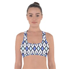 Blue Jess Cross Back Sports Bra by jumpercat