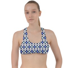 Blue Jess Criss Cross Racerback Sports Bra by jumpercat
