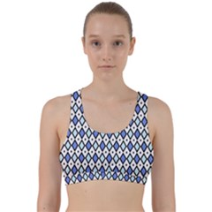 Blue Jess Back Weave Sports Bra by jumpercat