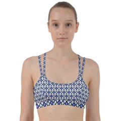 Blue Jess Line Them Up Sports Bra by jumpercat